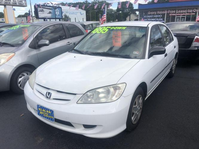 2005 WHITE HONDA CIVIC DX VP (2HGES16345H) with an 1.7L engine, Automatic transmission, located at 930 E Little Creek Road, Norfolk, VA, 23518, (757) 588-0420, 36.915051, -76.244408 - Photo #0